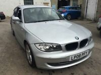 2008 BMW 118 automatic, starts and drives well, has slight noise in engine, car located in Gravesend
