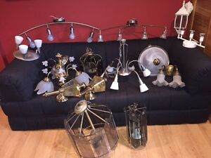 Selection of chandeliers and ceiling/wall lights