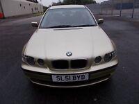 BMW 318I 1.8 TI SE COMPACT 3 DOOR HATCHBACK 51 REG ,, NICE CLEAN CAR,, MOT JANUARY 2019