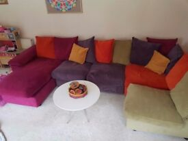 Freestyle dfs sofa multicolorsofa and armchair, free coffee table