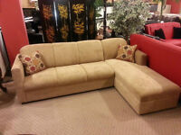 Brand new modern sectional on sale choice of colours