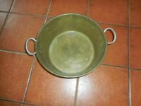 VINTAGE BRASS COOKING PAN