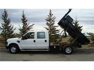 2008 FORD F350 XLT CREW 2WD 9FT DUMP 6.8L V10 118K ONLY $18,900.