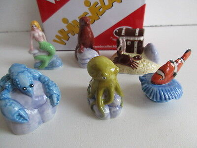 2008 WADE SET 1 UNDER THE SEA WHIMSIES 6 ITEMS INC MERMAID,LOBSTER ETC BOXED](Under The Sea Items)