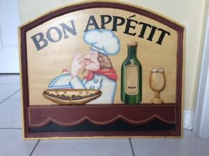 Kitchen 3D wood picture/sign