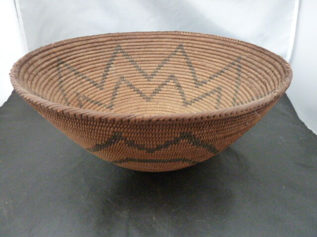 "Native American Basket   10 7/8 X  4 3/4  "" TALL"