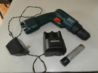1 drill with charger on battery's like new $20  450-628-4656  5