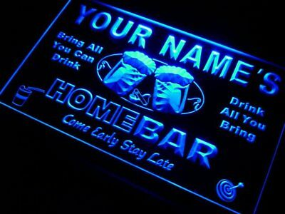 7 Colors Onoff Switch Name Personalized Custom Home Bar Beer Led Neon Sign P-tm