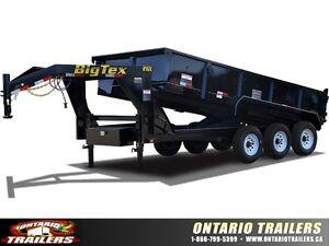 Big Tex 21GX - 16FT Triple Axle Low Profile Extra Wide Dump