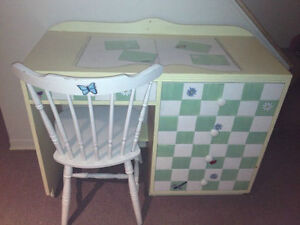 Children Hand Painted Butterfly Desk and Tea table