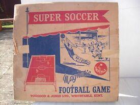 Magnetic soccer game