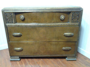Commode Bois 3 Tiroirs ANTIQUE Wooden Dresser With 3 Drawers