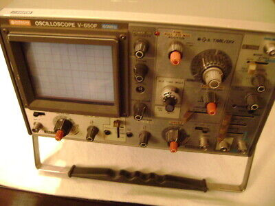 Hitachi Oscilloscope V-650f 2 Channel Portable 60 Mhz Analog Oscilloscope