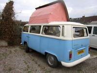 VW DORMOBILE CAMPER VAN TYPE 2 VOLKSWAGEN 1972 WITH ORIGINAL RECEIPT FROM NEW, 1 OWNER, INVESTMENT!!
