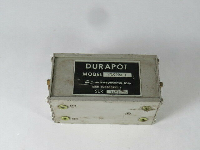 Durapot DC1000A-1 Transducer 9-Pin D-Sub Connectors  USED