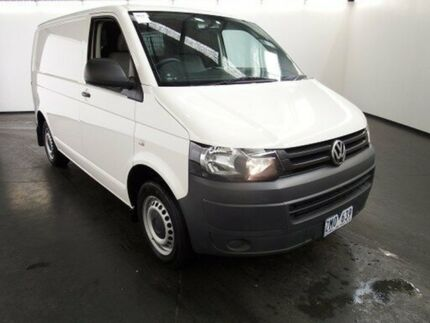 2014 Volkswagen Transporter T5 MY13 TDI 340 SWB Mid White 7 Speed Automatic Van Albion Brimbank Area Preview