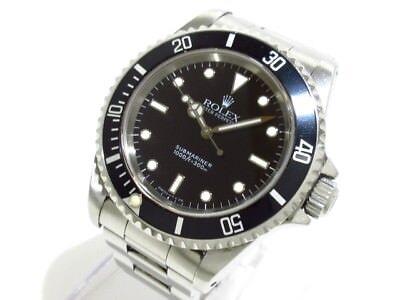 Auth ROLEX Submariner 14060 Black S745482 Men's Wrist Watch