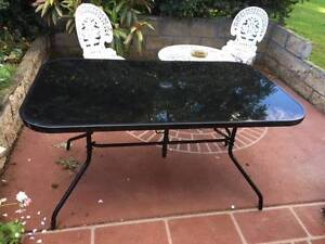 Black glass outdoor table Campbelltown Campbelltown Area Preview