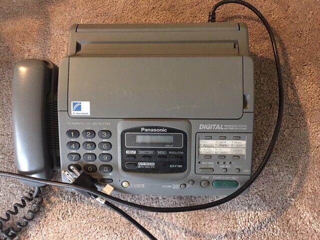 Panasonic KX-F780 Fax Machine  - Used but works