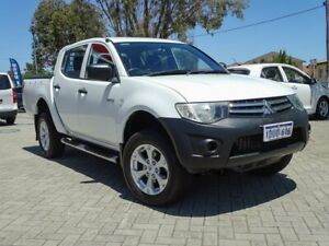 2012 Mitsubishi Triton MN MY13 GLX Double Cab 4x2 White 4 Speed Sports Automatic Utility Morley Bayswater Area Preview