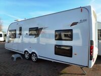 Elddis Avante 646 10th Edition 6 berth - Immaculate - Like New. Twin Axle with triple bunkbeds