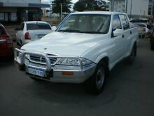2005 Ssangyong Musso Sports White 5 Speed Manual Dual Cab Pick-up Victoria Park Victoria Park Area Preview