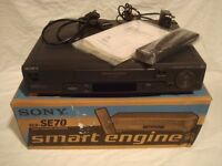 free postage **BOXED** SONY SLV-SE70UX VCR VHS VIDEO COMPLETE AND TESTED PAL U.K. **RARE**