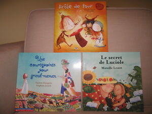 3 Assorted Children French Books (New) (A)