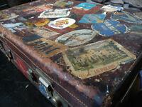 original leather vintage suitcase (1950)