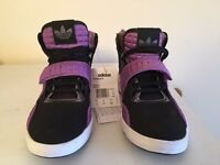 Brand new Adidas Roundhouse Womens Trainers Size 4.5 UK G56813 - Purple/White/Black