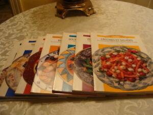7 Livres de cuisine coup de Pouce. Collection culinaire