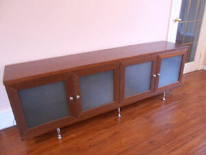 Dresser with glass doors,  perfect quality