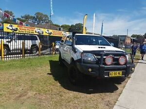 2007 Toyota Hilux KUN26R MY07 SR White 5 Speed Manual 4D CAB CHASSIS Ingleburn Campbelltown Area Preview
