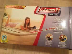 Coleman Queen Raised Airbed with Electric Pump Included