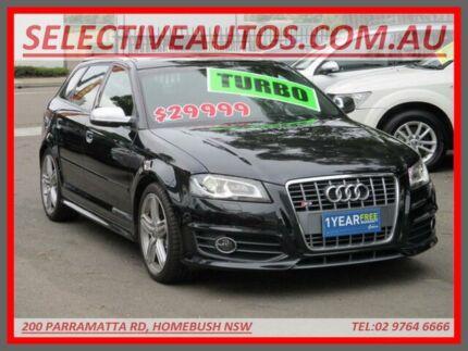 2011 Audi S3 8P Sportback Black 6 Speed Direct Shift Hatchback Homebush Strathfield Area Preview