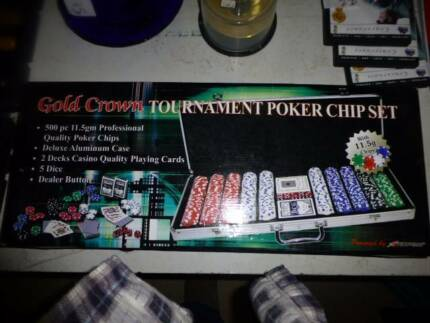 New Crown Professional poker set aluminium case 11.5 gram chips Buderim Maroochydore Area Preview