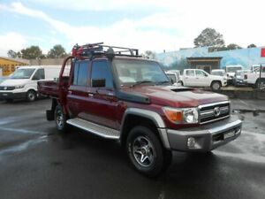 2014 Toyota Landcruiser VDJ79R MY13 GXL Double Cab Burgundy 5 Speed Manual Cab Chassis