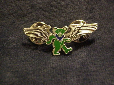 - GRATEFUL DEAD GREEN DANCING BEAR WINGS PIN