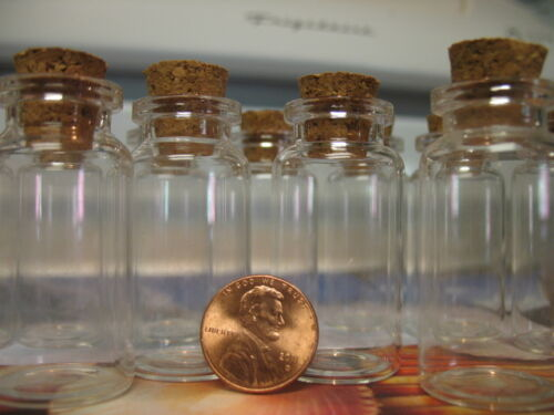 10 10ml Bitty Bottles W/ Corks. Mini Bottles With Corks. Mini Glass Bottle Vials