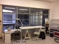 Large desk space in creative studio Studio South Bermondsey