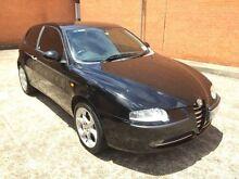 2004 Alfa Romeo 147 MY2002 Twin Spark Black 5 Speed Manual Hatchback Yagoona Bankstown Area Preview