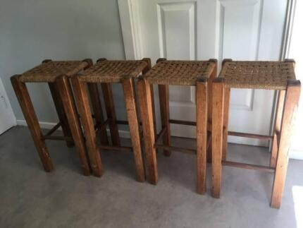 Stools, four breakfast-bar type