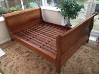 Solid wood double bedstead handcrafted from hardwood