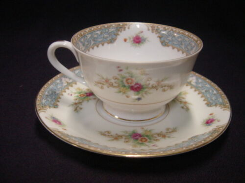 Sango Blue Dawn 2 Cups and Saucers