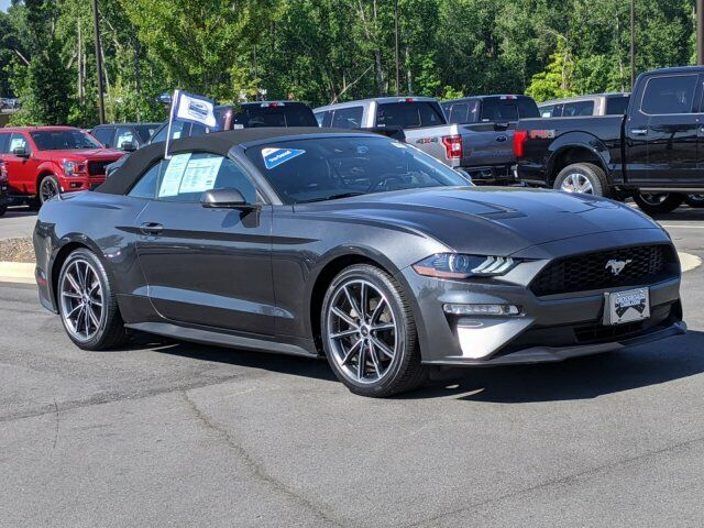 2019 Ford Mustang EcoBoost 11979 Miles Magnetic Metallic Convertible Intercooled