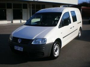 2010 Volkswagen Caddy 2K MY11 Maxi TDI250 White 7 Speed Automatic Wagon Victoria Park Victoria Park Area Preview