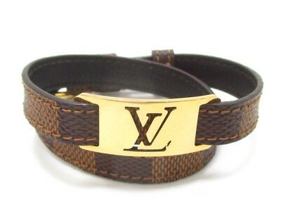 Auth LOUIS VUITTON Burasure  Sign It M6623E Ebene CA3150 Bracelet