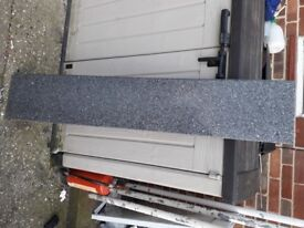 Natural Granite Stone worktop, shelf or window-sill. Length 142cm, Width 26cm, Depth 3cm,