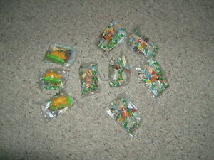 1997 LAND BEFORE TIME BURGER KING TOYS LOT OF 9