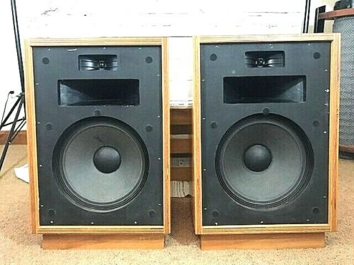 Klipsch Heresy HBR 1 Owner W/ Risers Consecutive Serial # Excellent Condition